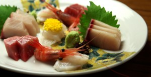 くし家のお刺身、新鮮で美味しい