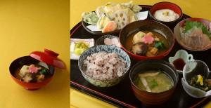 ゆず定食と一品料理、治部煮。近江町の定食屋ゆず撮影事例